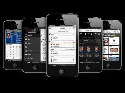 NHL GameCenter Mobile App mobile ios app ux ui