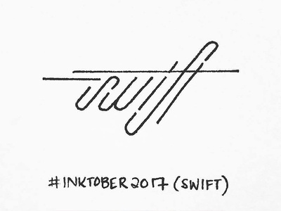 Swift handtype type font design typography blackink penandink ink penmanship calligraphy swift inktober