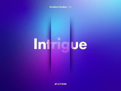 Gradient Studies: Encore — Intrigue simplicity adobe illustrator illustration skillshare gradient geometry abstract minimalist color typography vector