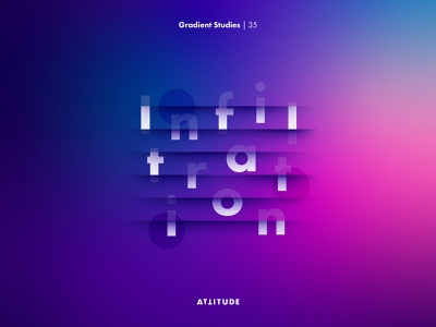 Gradient Studies: Encore — Infiltration simplicity illustrator skillshare gradient geometry abstract minimalist color typography vector