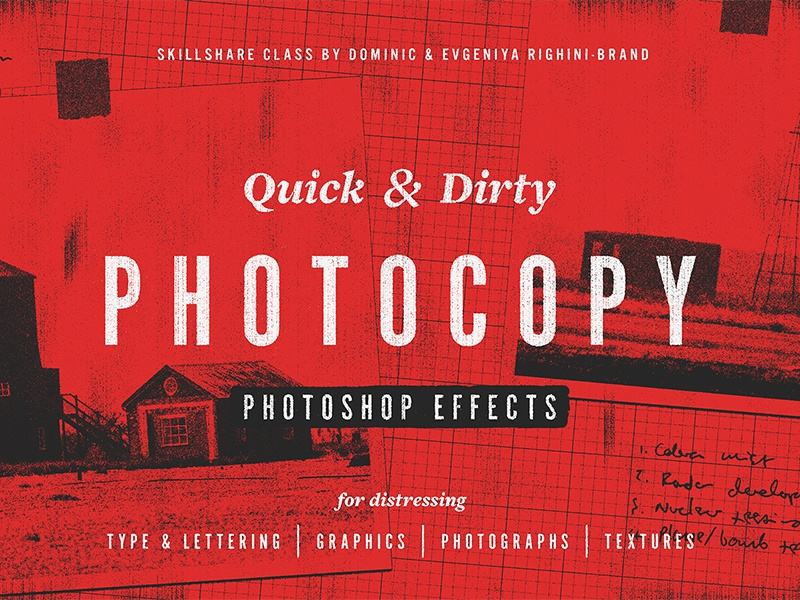 Quick & Dirty Photocopy Effects in Photoshop by Attitude on Dribbble