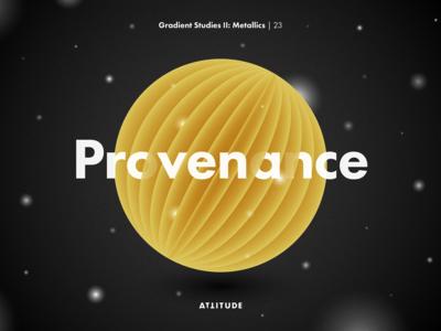 Gradient Studies II: Provenance