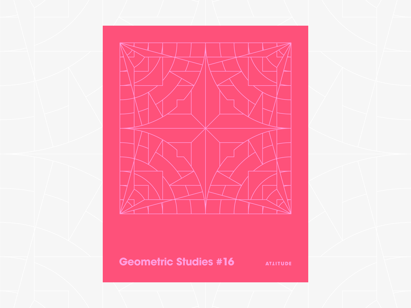 Geometric Studies #16 geometric grid grid design grids pattern abstract typography 1980s retro avant-garde poster vector geometric art blueprint digital duotone linear design line art minimalist
