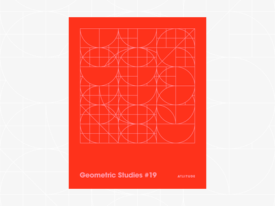 Geometric Studies #19 geometric grid grid design grids pattern abstract typography 1980s retro avant-garde poster vector geometric art blueprint digital duotone linear design line art minimalist