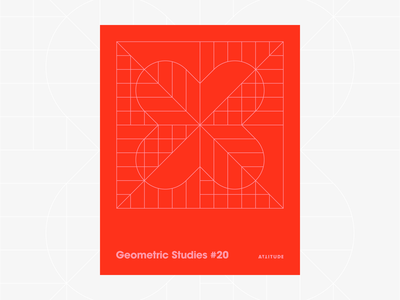 Geometric Studies #20 geometric grid grid design grids pattern abstract typography 1980s retro avant-garde poster vector geometric art blueprint digital duotone linear design line art minimalist