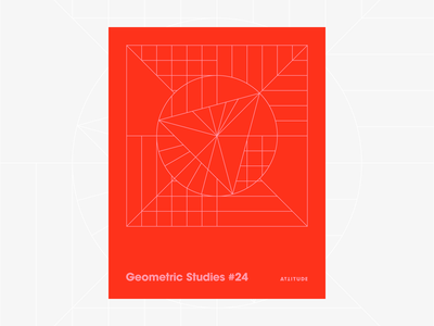 Geometric Studies #24 geometric grid grid design grids pattern abstract typography 1980s retro avant-garde poster vector geometric art blueprint digital duotone linear design line art minimalist