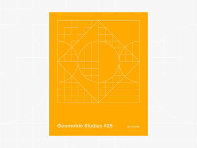 Geometric Studies #25 geometric grid grid design grids pattern abstract typography 1980s retro avant-garde poster vector geometric art blueprint digital duotone linear design line art minimalist