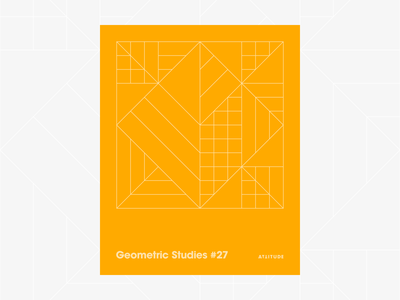 Geometric Studies #27 geometric grid grid design grids pattern abstract typography 1980s retro avant-garde poster vector geometric art blueprint digital duotone linear design line art minimalist