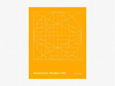 Geometric Studies #30 geometric grid grid design grids pattern abstract typography 1980s retro avant-garde poster vector geometric art blueprint digital duotone linear design line art minimalist