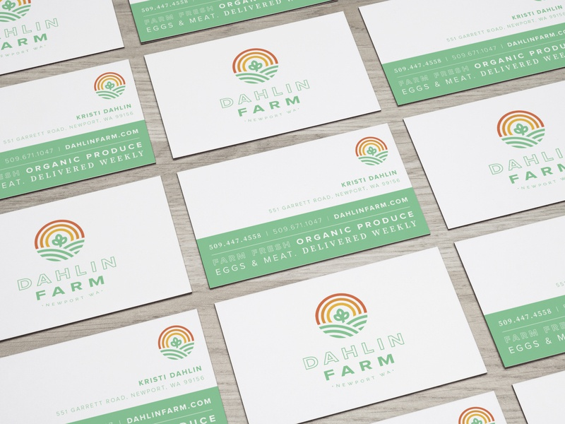 Dahlin Farm Business Card csa farm business card branding brand