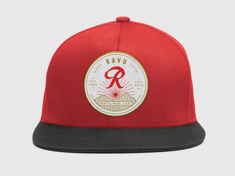 KAVU + Rainier Beer Hat Patch by Elias Carlson  080b93324e4