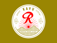 KAVU + Rainier Beer Hat Patch 2