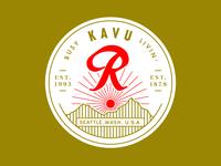 KAVU + Rainier Beer Hat Patch 2