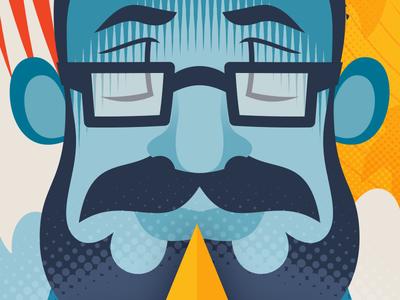 Creative Hoodoo 1 of 2 caricature character cartoon illustrator vector illustration
