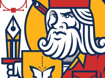 King Of Curves character cartoon illustrator vector illustration
