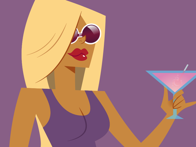 Donatella 2.0 character design redesign cartoon illustrator vector illustration