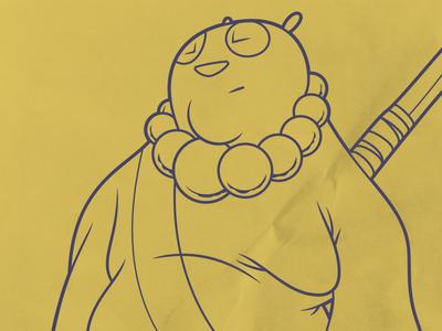 Pahn character design panda comics character cartoon illustrator vector illustration