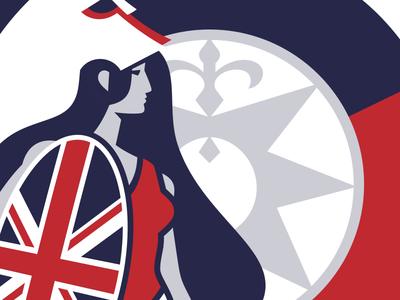 Unused Patch Design uk patch design illustration vector