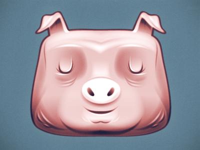 Vector Style Experiment illustration vector pig farm experiment inkstatic cartoon character bacon