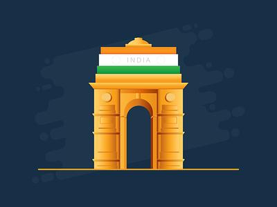 India Gate exzeo indian flag independence day republic day india gate flag