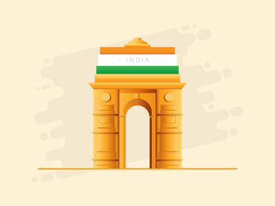 India Gate (Light theme) exzeo flag india gate republic day independence day indian flag