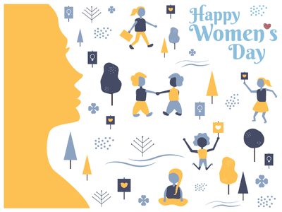 Happy Women's Day 2018 environment design designposter graphic women