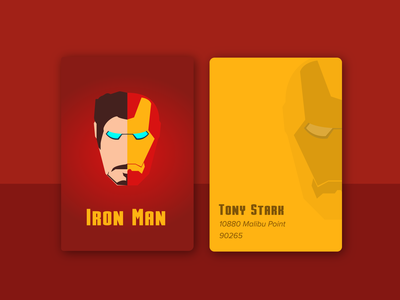 Iron Man Business Card - Weekly Warm-up