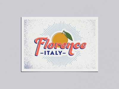 Adobe Live Florence Postcard typography vector illustration postcard