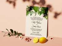 Chidi + James Invitations