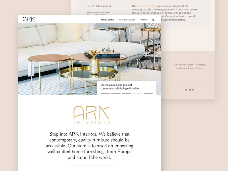 ARK Interiors Website