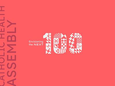 CHA Assembly 2015 100 health catholic logo illustration branding typography design