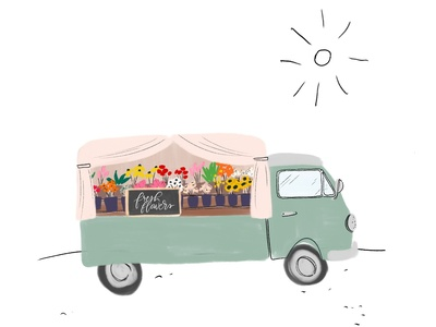 End of the Season Flower Truck