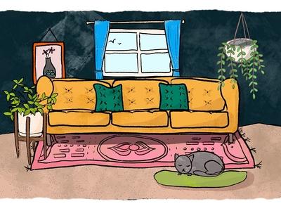 A Cat's Bohemian Slumber