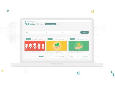Volontime Social Network Web App