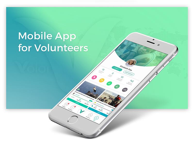 Volontime Social Network Mobile App cause events donation volunteer ux design app mobile