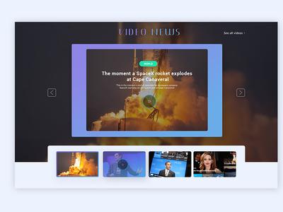 Video News - UI Design concept for Online Magazine