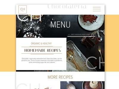 Chocolateria Homepage Design