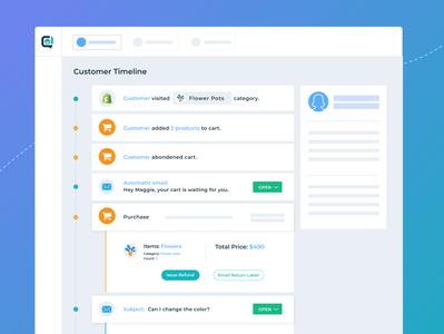 Customary - Customer Timeline & Dashboard