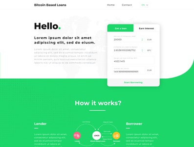 Cryprocurrency Landing Page Design