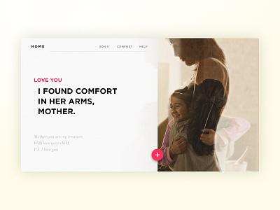 Mother Blog - Content Card landing photography ux ui unsplash mother blog bootstrap web webdesign