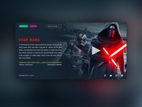 Star Wars: The Force Awakens UI Movie Card