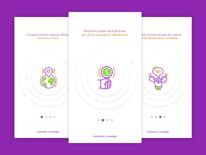 Onboarding Cards  material ux design visual colors buy firstshot illustration mobile interface onboarding