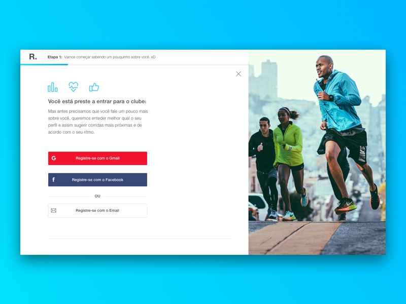 Sign-in inspiration ui ux mobile login interface run sport in sign