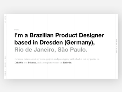 Portfolio v1 product designer cover image web typo portfolio