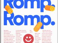 Social event branding for Romp.