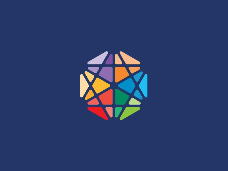 Star of David logo logotype identity modern minimal simple colorful star david religious jewish