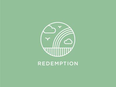 Redemption logo logotype icon branding heisler redemption renewal regeneration reignite rainbow clouds birds