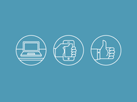 Zendesk web/mobile/social icons