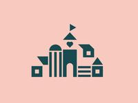 Zendesk - The Village simple modern geometric town village team zendesk identity logo