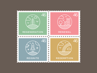 """Re"" Series Icons Stamps"